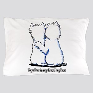 Hugging Westies Pillow Case
